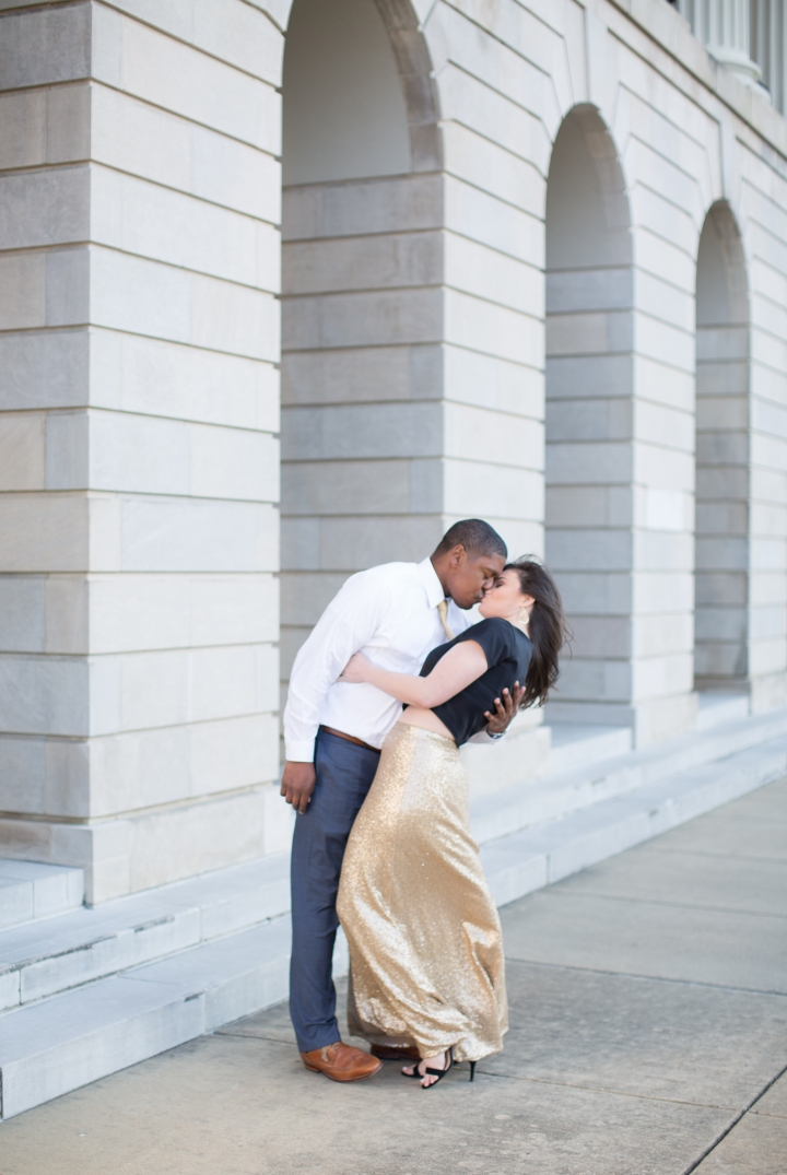 Whitney & JP | A Downtown Jackson Engagement Session