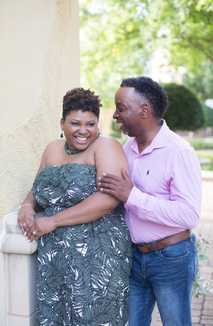 Candace & Mo | A Summer Engagement Session at the  Renaissance at ColonyPark