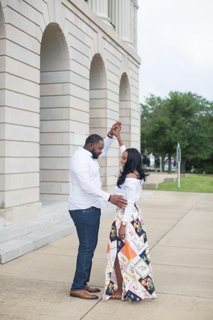 Jennifer & Henry | A Downtown Jackson EngagementSession