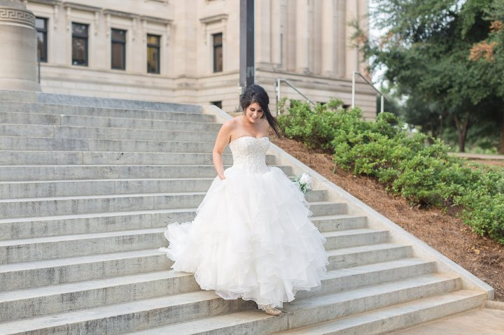 Kayla | Bridal Session | Downtown Jackson MississippiCapitol