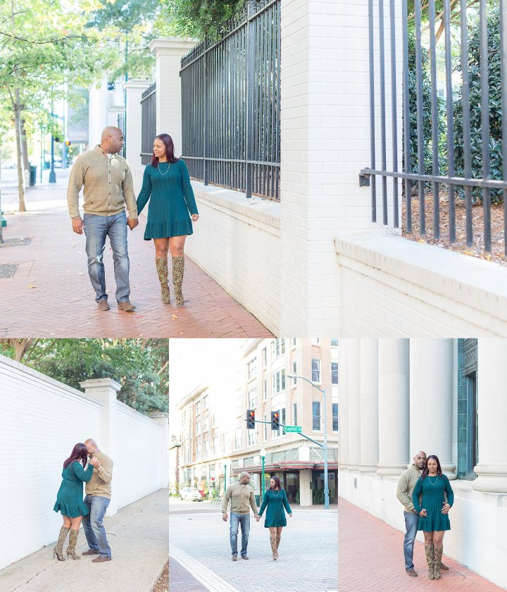 Celeste & Erik | Fall Engagement Session | Downtown Jackson, Mississippi