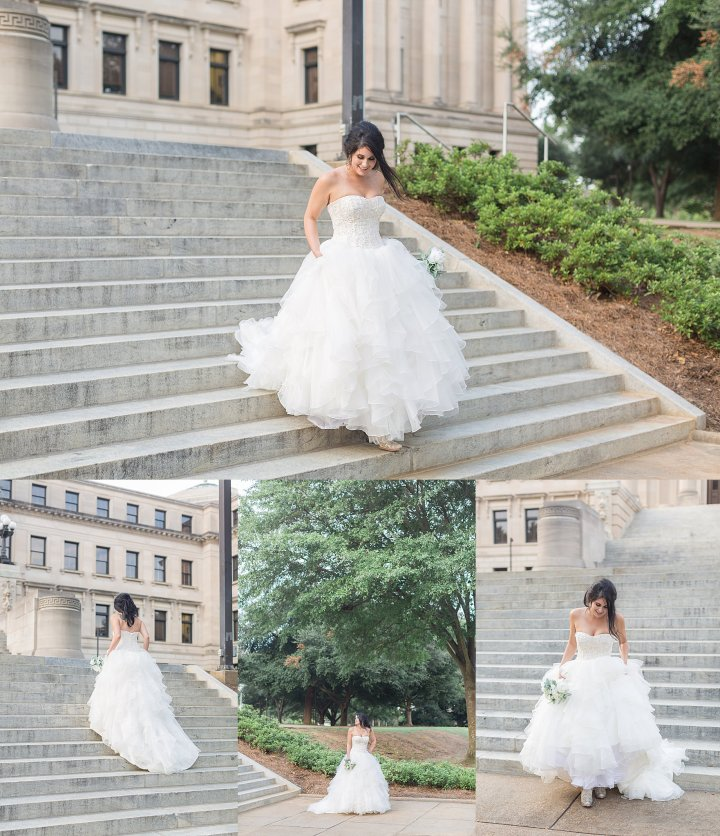 Kayla | Bridal Session | Downtown Jackson Mississippi Capitol
